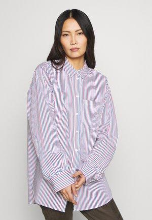 PRINTED POPLIN - Button-down blouse - white