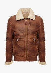 Schott - Leather jacket - rust - 4