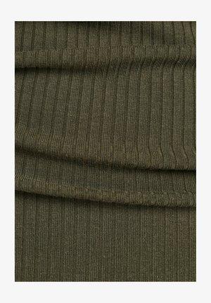 RIB TANK DRESS SLIM - Jumper dress - combat