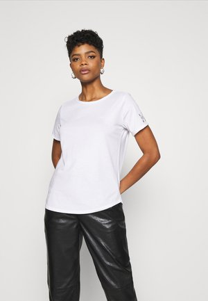 MYSID OPTIC SLIM - Basic T-shirt - white