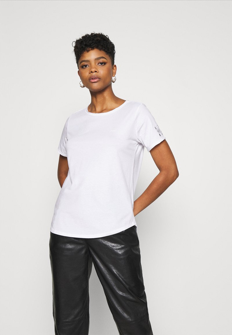 G-Star - MYSID R T OPTIC SLIM WMN S\S C - Print T-shirt - white