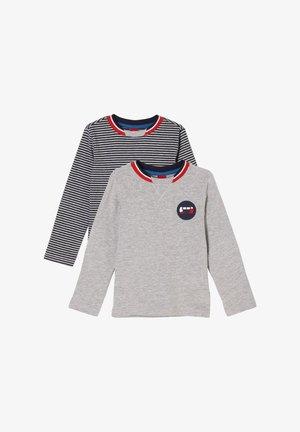 DOPPELPACK  - Langarmshirt - blue/grey stripes