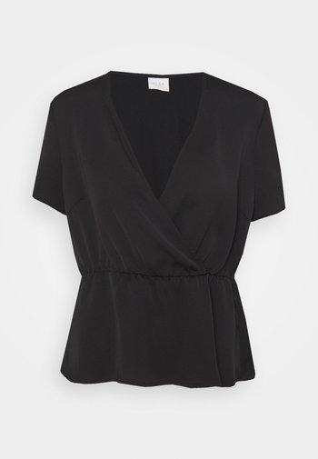 VIZIPPA WRAP EFFECT - T-shirts med print - black