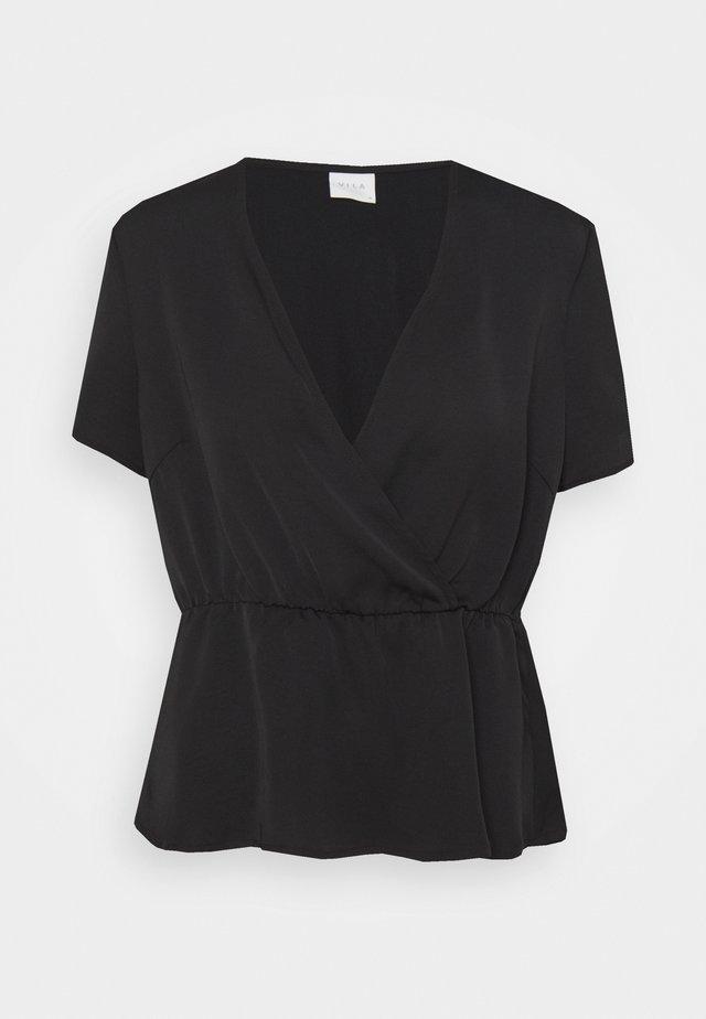 VIZIPPA WRAP EFFECT - Print T-shirt - black