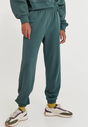 BASIC-JOGGER - Teplákové kalhoty - mottled dark green