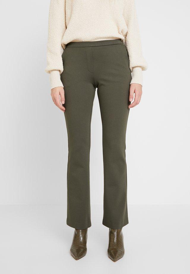 TANNY FLARE PANTS - Spodnie materiałowe - dark khaki