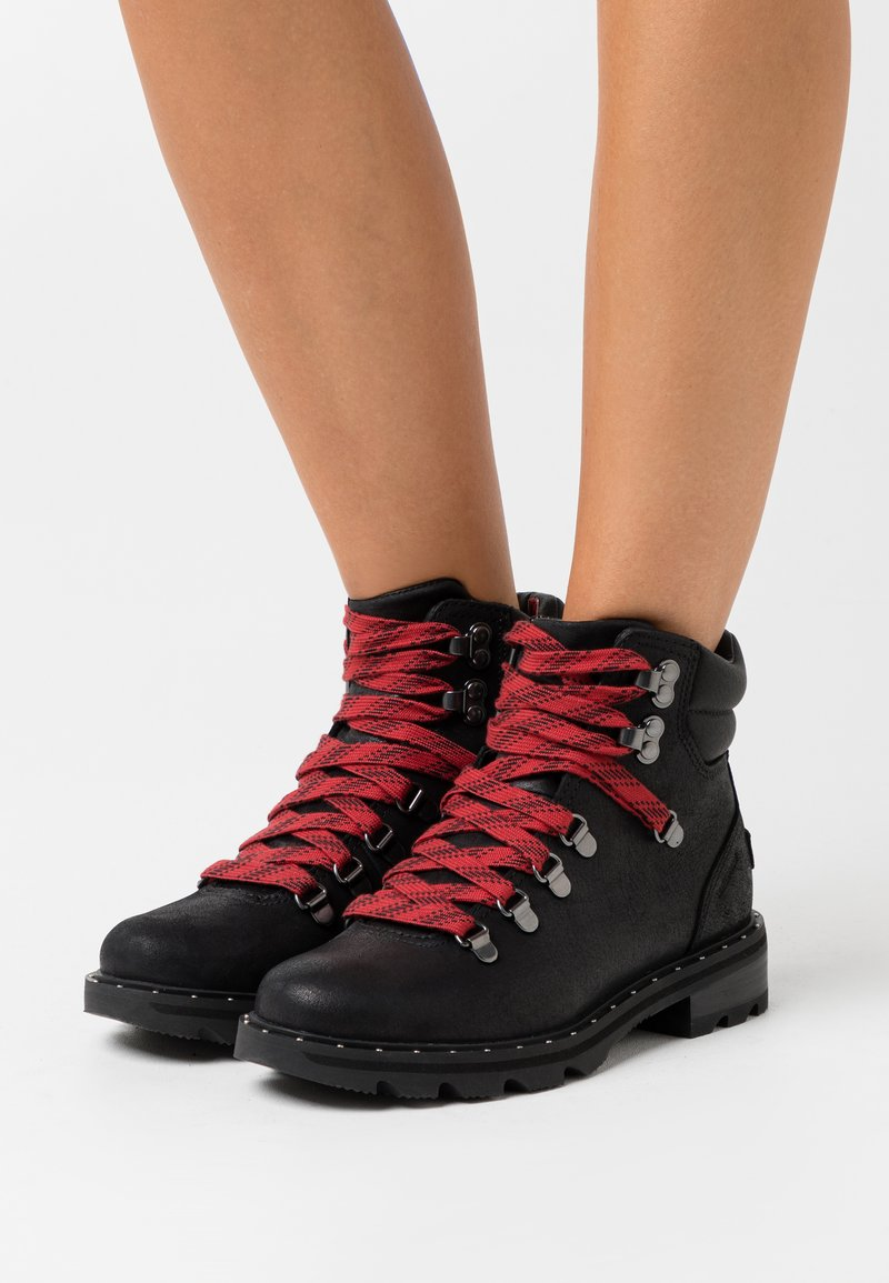 Sorel - LENNOX HIKER - Lace-up ankle boots - black