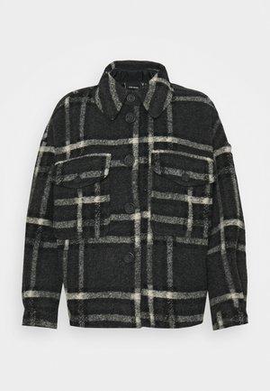 VMCHRISSIE SHORT CHECK  - Summer jacket - dark grey melange