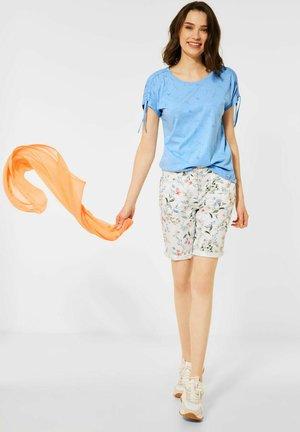 BURN-OUT - Print T-shirt - blau