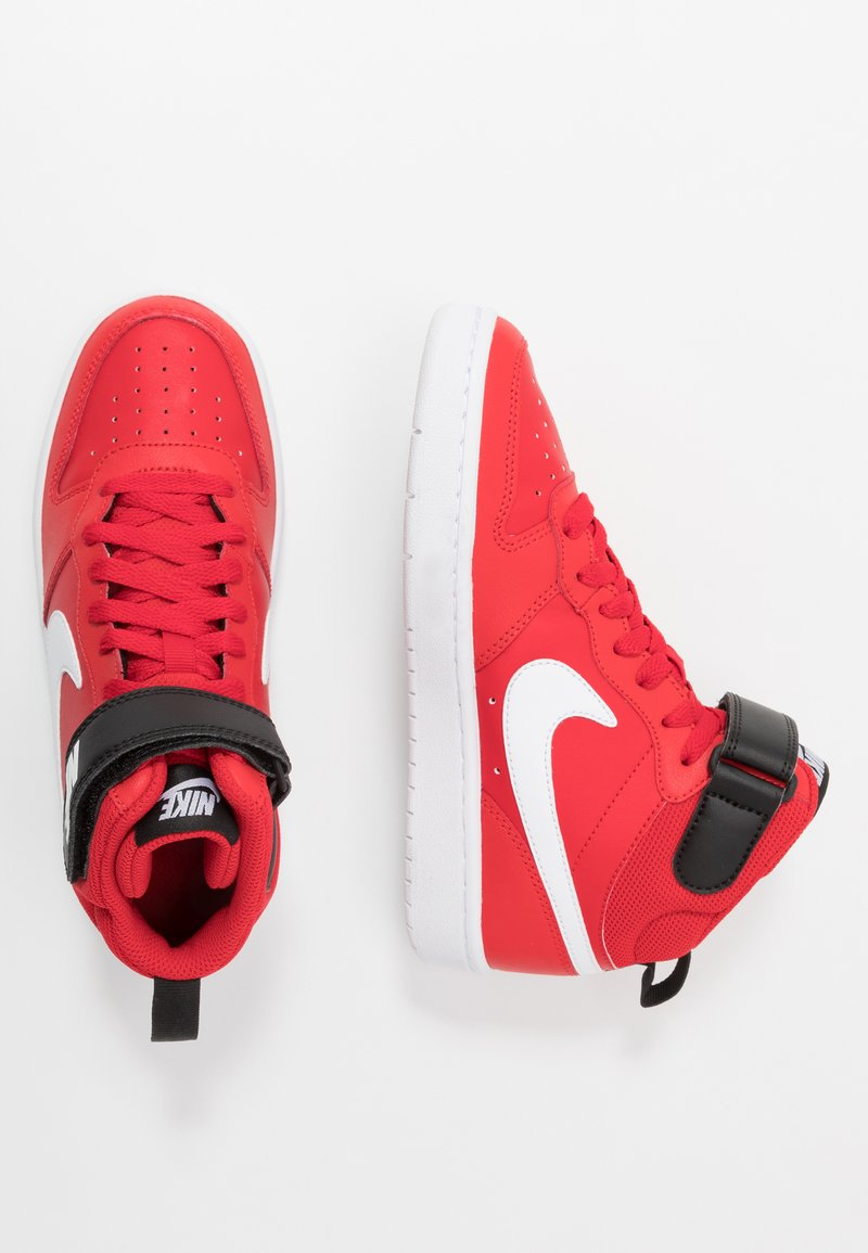 Nike Sportswear - COURT BOROUGH MID UNISEX - High-top trainers - university red/white/black