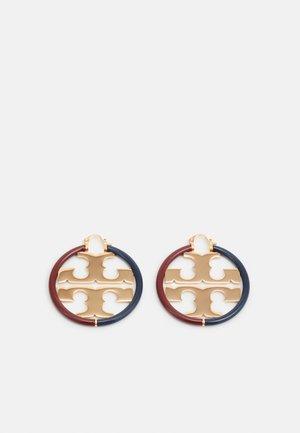 MILLER HOOP EARRING - Pendientes - gold-coloured/navy/imperial garnet