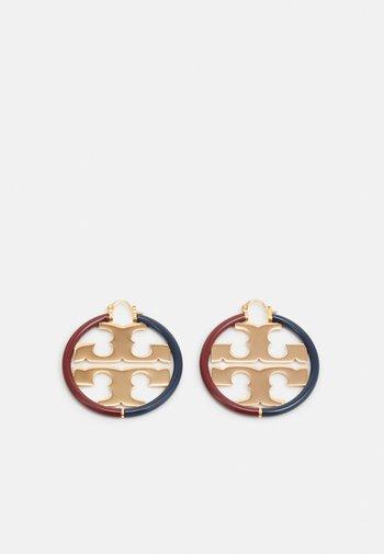 MILLER HOOP EARRING - Oorbellen - gold-coloured/navy/imperial garnet