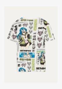 Bershka - MIT PRINT - T-shirt print - white - 1