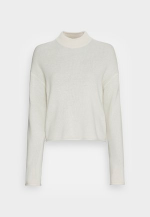 CROPPED MOCK CASH - Pullover - ivory