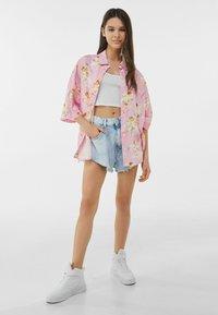 Bershka - Button-down blouse - pink - 1