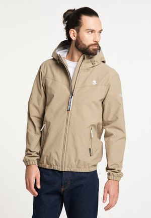 Waterproof jacket - khaki melange