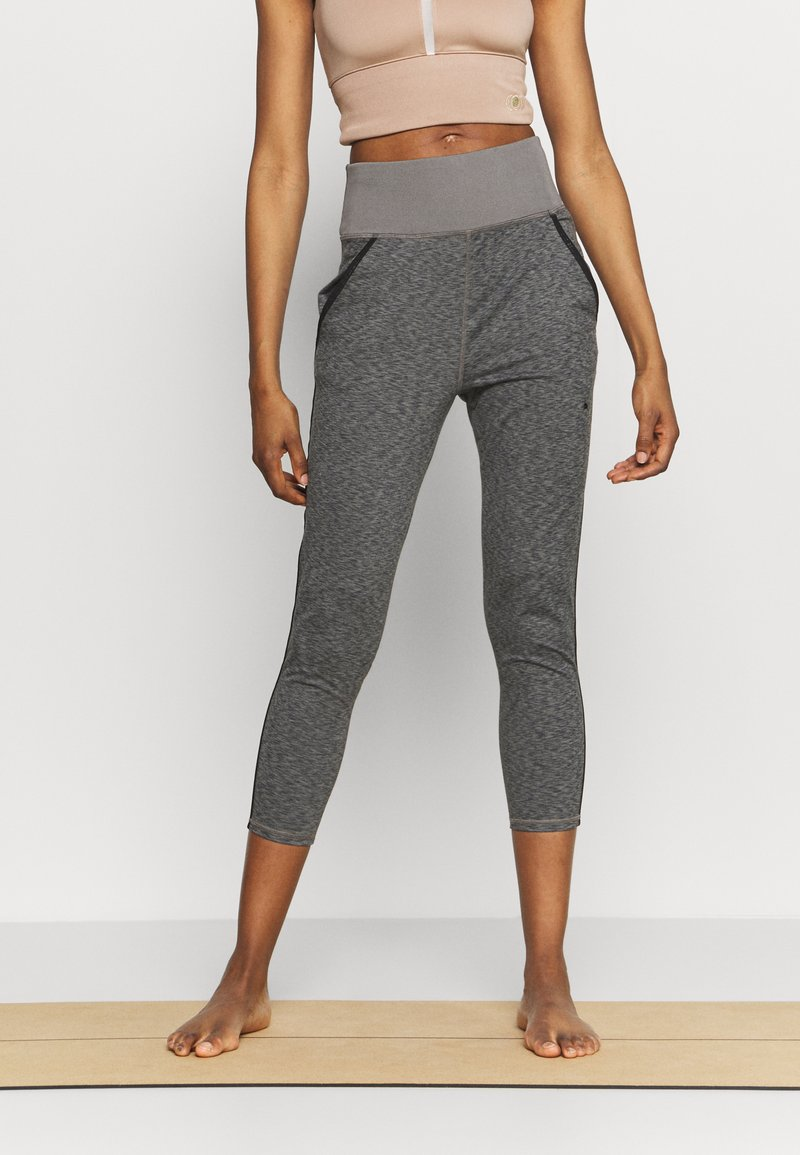 Puma - STUDIO JOGGER - Tracksuit bottoms - charcoal gray heather
