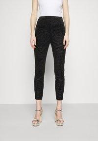 Never Fully Dressed - GLITTER DYNASTY TROUSER - Kalhoty - black - 0