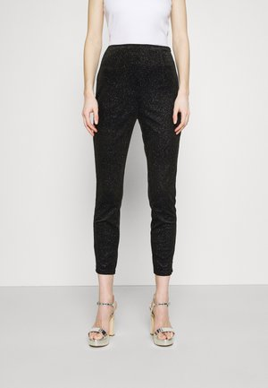 GLITTER DYNASTY TROUSER - Trousers - black