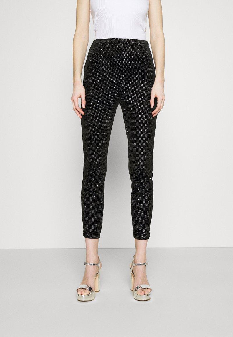 Never Fully Dressed - GLITTER DYNASTY TROUSER - Kalhoty - black
