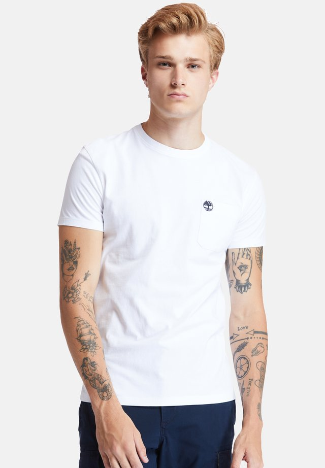 SS DUNSTAN RIVER POCKET TEE - T-shirt basic - white