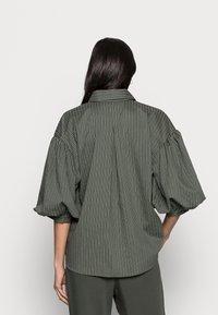 InWear - YOKO SHIRT - Button-down blouse - beetle green - 2