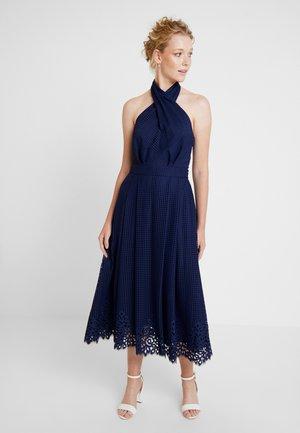 HELENA HALTER DRESS - Maxi dress - blue