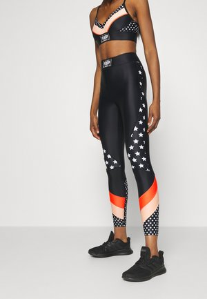 OFF SIDE LEGGING - Leggings - multi-coloured/black/coral