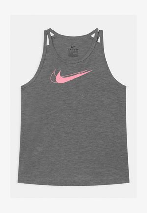 TROPHY TANK - Sports shirt - carbon heather/pink