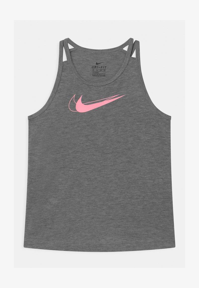 Nike Performance - TROPHY TANK - Funkční triko - carbon heather/pink