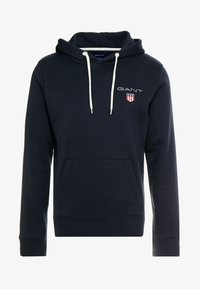 GANT - MEDIUM SHIELD HOODIE - Luvtröja - black - 4
