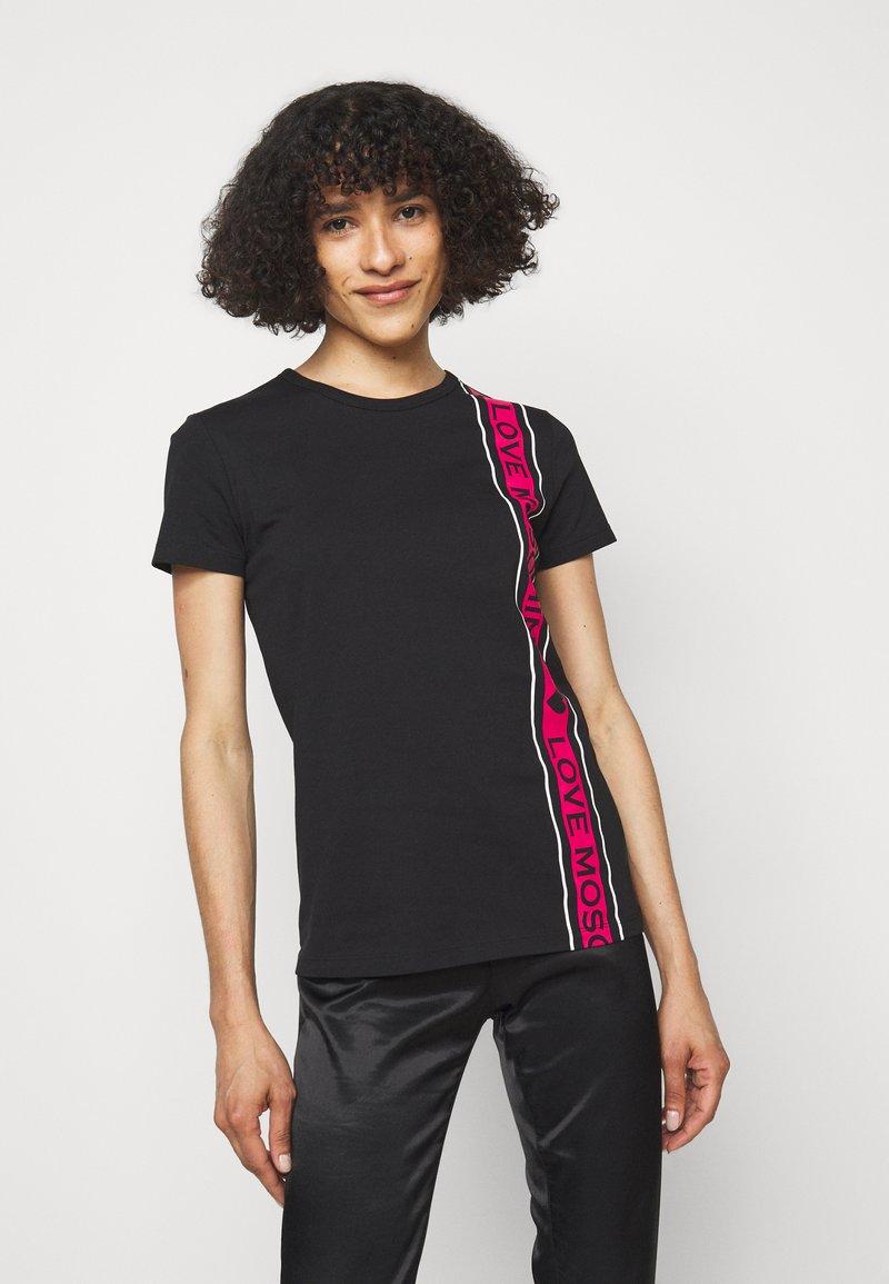 Love Moschino - Print T-shirt - black