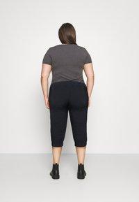 Kaffe Curve - CAPRI PANTS - Trousers - midnight marine - 2