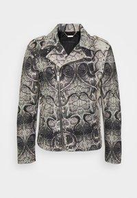 John Richmond - JACKET OBOISE - Kožená bunda - light grey/grey - 0