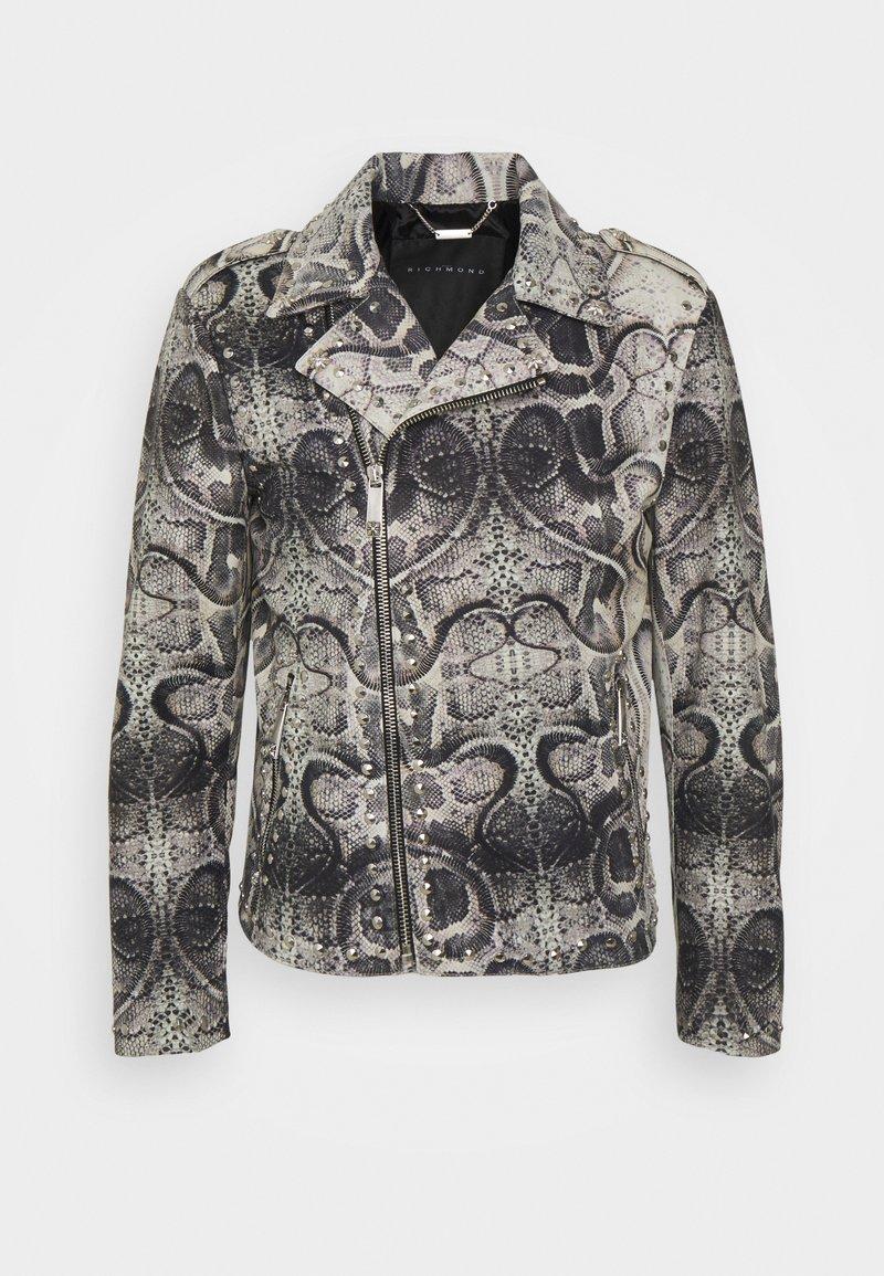 John Richmond - JACKET OBOISE - Kožená bunda - light grey/grey