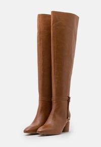 Zign - Kozačky nad kolena - brown - 2