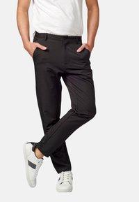 Koroshi - PANTALON LARGO - Pantalones chinos - black - 4