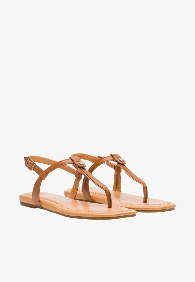 MADEENA - T-bar sandals - tan