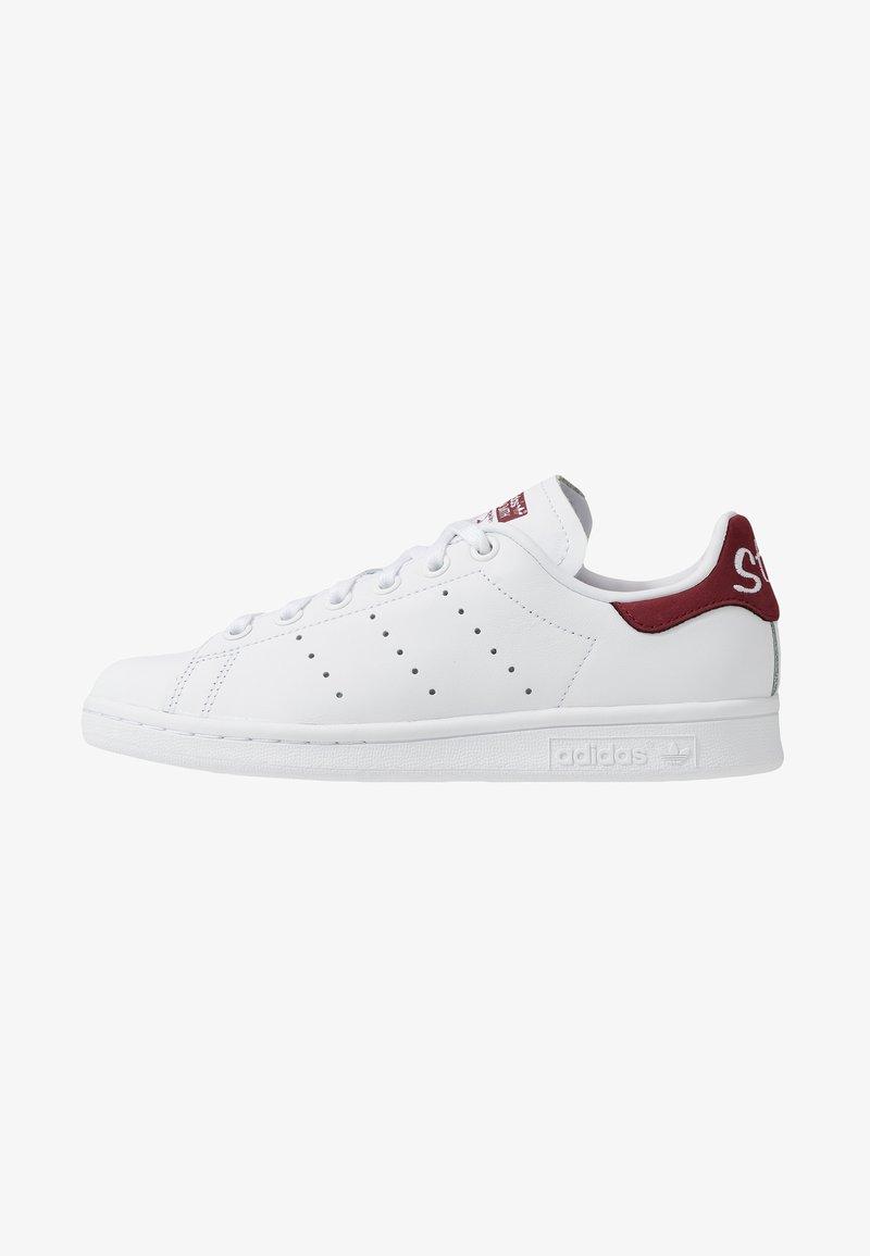adidas Originals - STAN SMITH - Tenisky - footwear white/collegiate burgundy