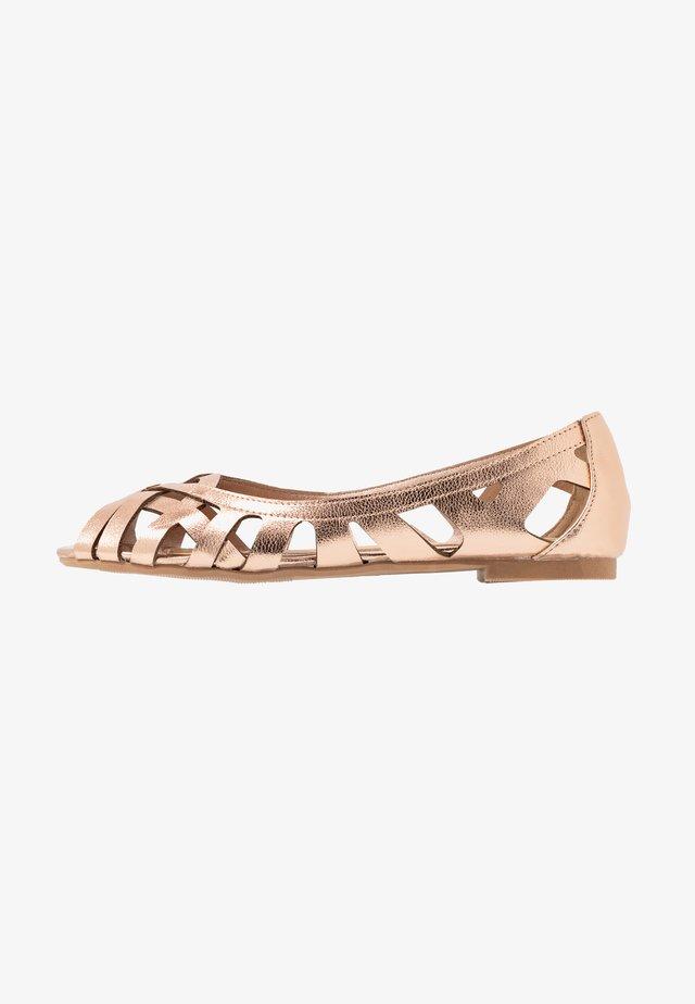HARLO - Peeptoe ballet pumps - rose gold