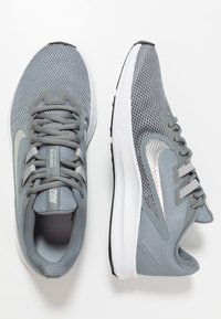 Nike Performance - DOWNSHIFTER  - Neutral running shoes - cool grey/metallic silver/wolf grey - 1