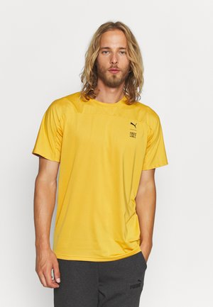 TRAIN FIRST MILE TEE - Basic T-shirt - mineral yellow