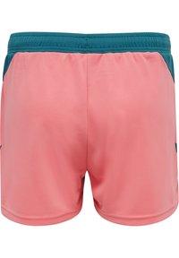 Hummel - ACTION - Sports shorts - blue coral/tea rose - 1