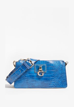 STEPHI CROCO - Across body bag - blauw