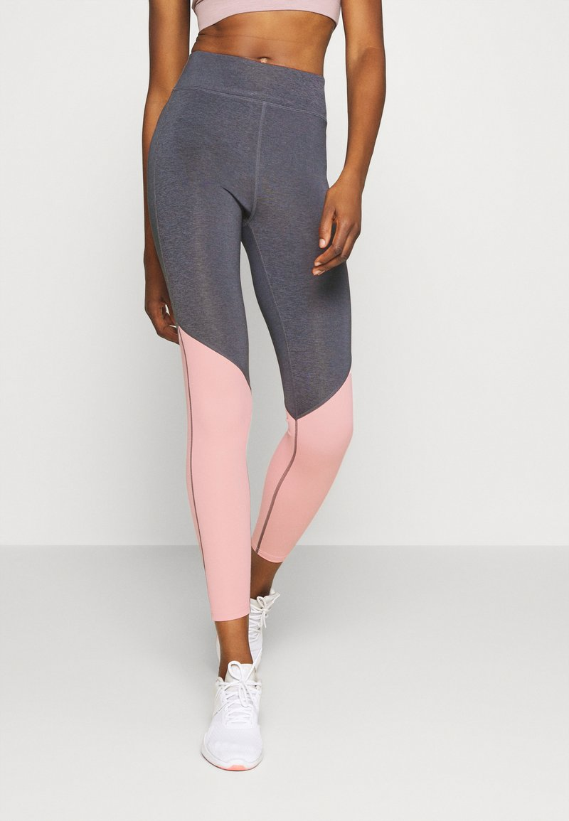 Even&Odd active - Leggings - grey/pink_rose