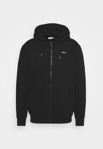 SASHA HOODED JACKET - Zip-up sweatshirt - black