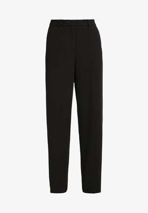 SIDE SLIT PANT - Kalhoty - black
