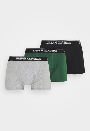 BOXER SHORTS 3 PACK - Pants - grey /darkgreen/black
