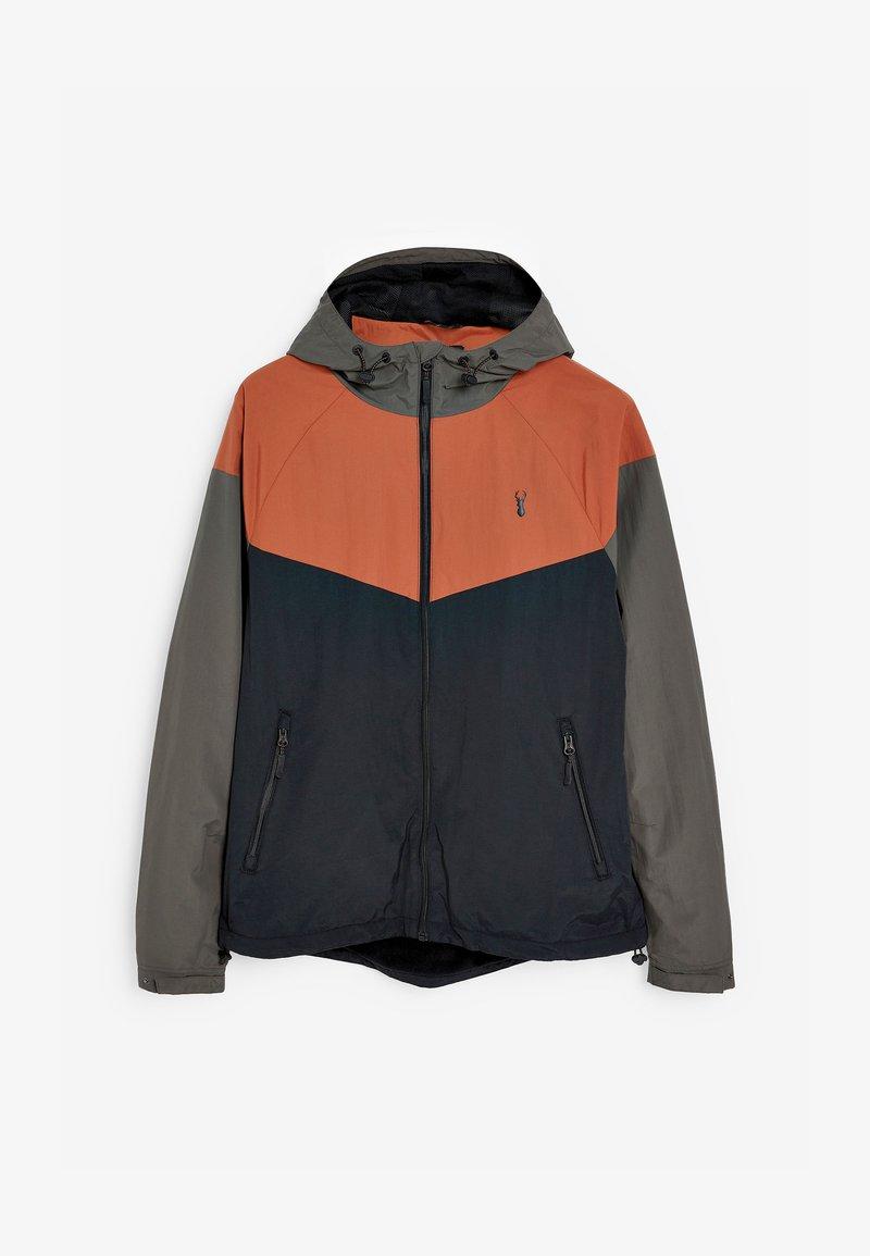 Next - SHOWER RESISTANT COLOURBLOCK - Light jacket - grey/orange