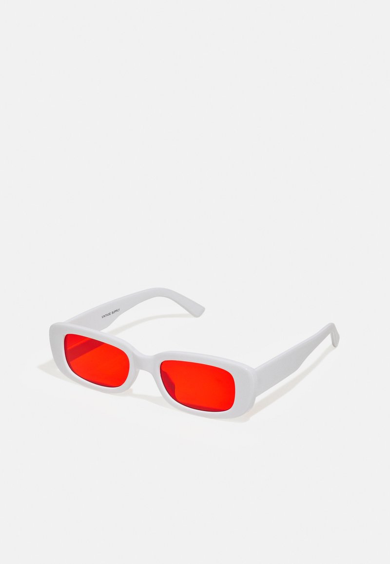 Vintage Supply - UNISEX - Sunglasses - white/red